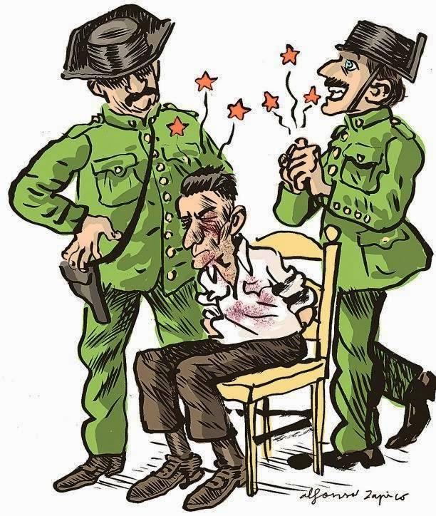 Los sutiles métodos empleados por los guardias durantelos interrogatorios.