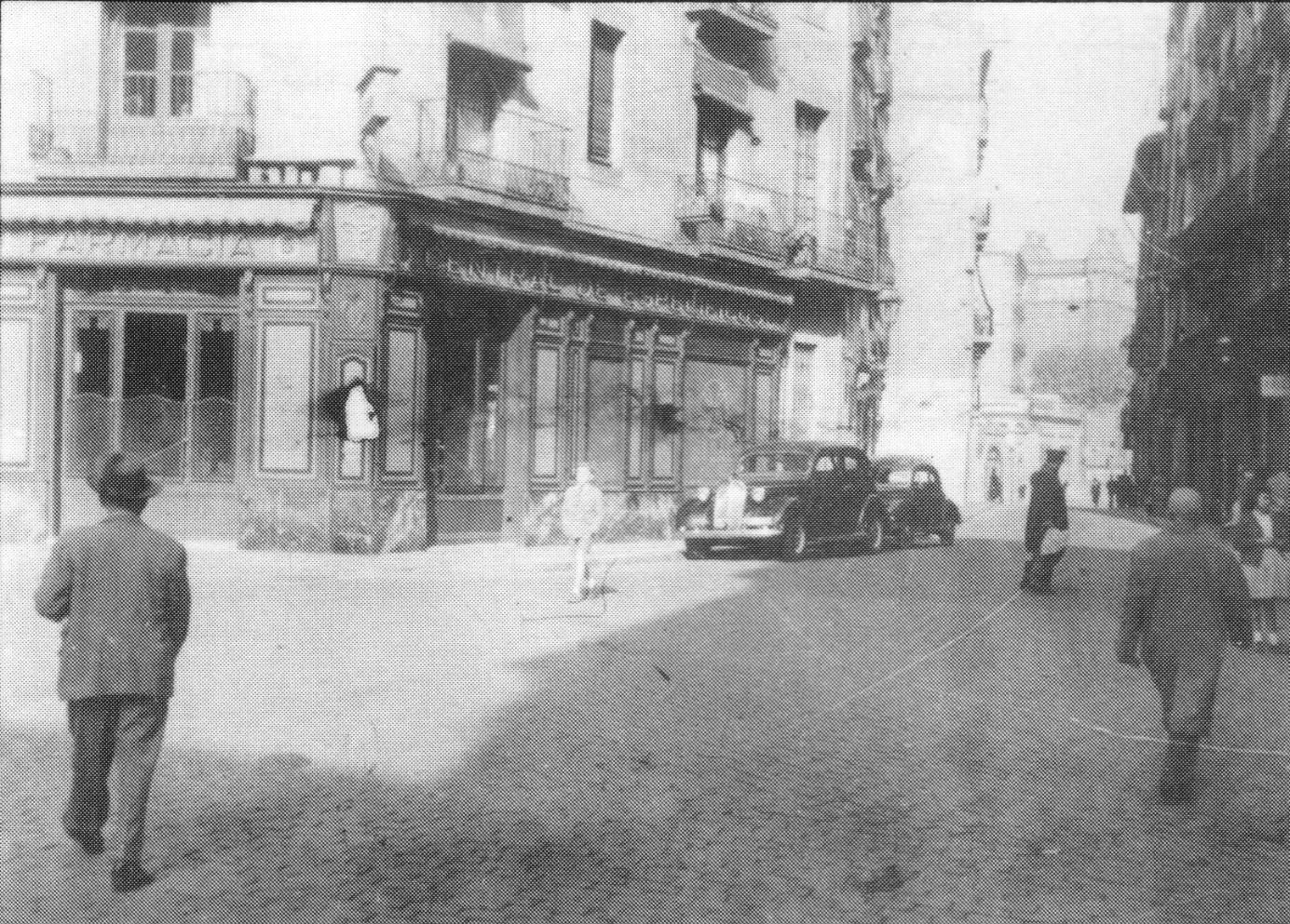Farmacia hasta la que consiguió llegar José Sabaté gravemente herido y donde resultó finalmente detenido antes de su muerte.