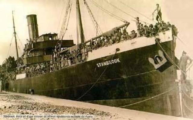 El Stanbrook, último barco que salió del puerto de Alicante.