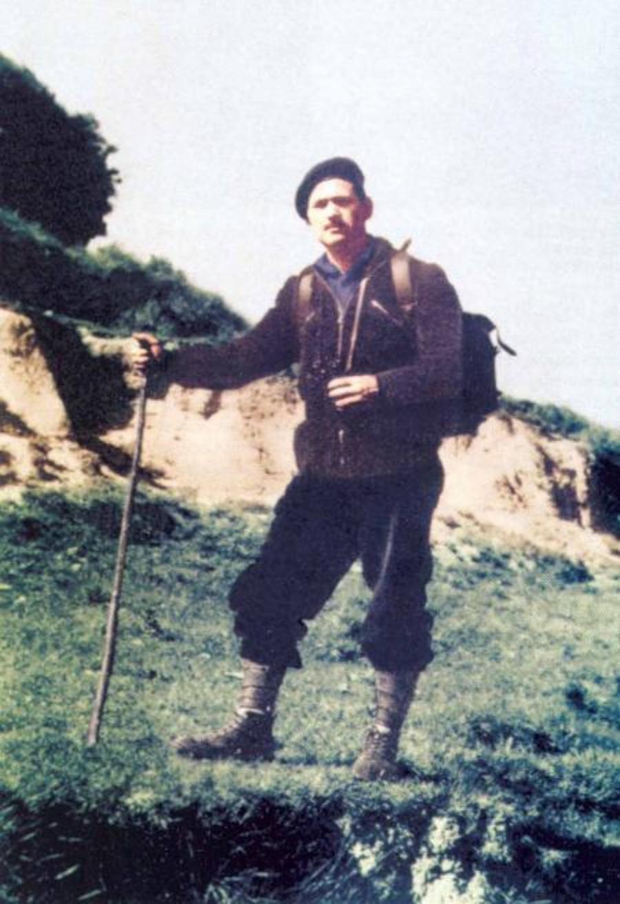 """Francisco Sabaté """"el Quico"""", en los Pirineos, febrero de 1957."""