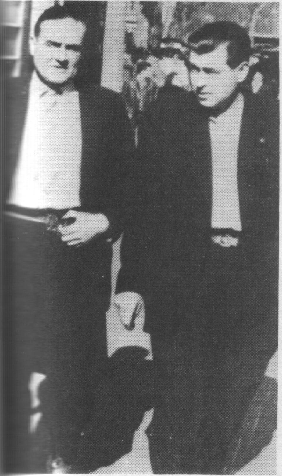 "Massana y ""Talla-ventres"", en Toulouse durante 1947."