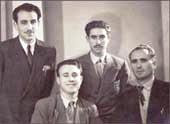 """""""Asturiano"""",""""Jalisco"""", """"Quico"""" y """"Atravesado"""" ya en Francia, 1951."""