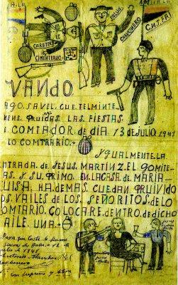 Bando realizado por la partida del Carbonero. (Julio 1941)