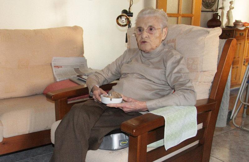 """Carme Casas Godesart """"Elissa"""", una de las guerrilleras que en 1944tomó parte en la invasión del valle de Arán."""