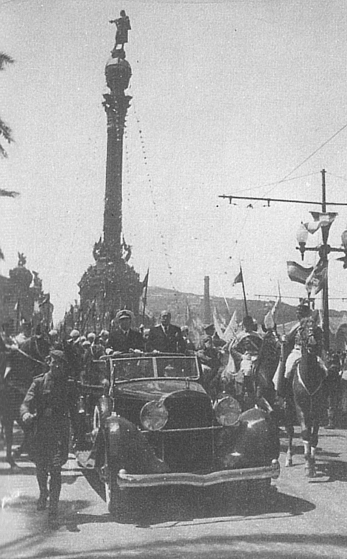 Franco, de visita en Barcelona.