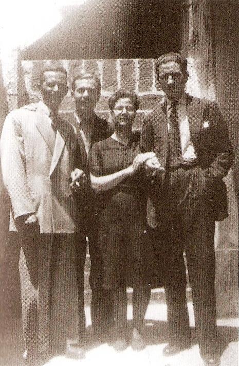 Paulina Amaro Pachá, junto a otros guerrilleros de Ciudad Real.