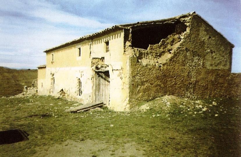 Vista actual del cortijo Lorrán, donde murieron tres guerrilleros y un guardia civil.
