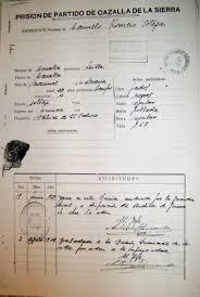 Expediente carcelario de CarmeloRomero Ortega.