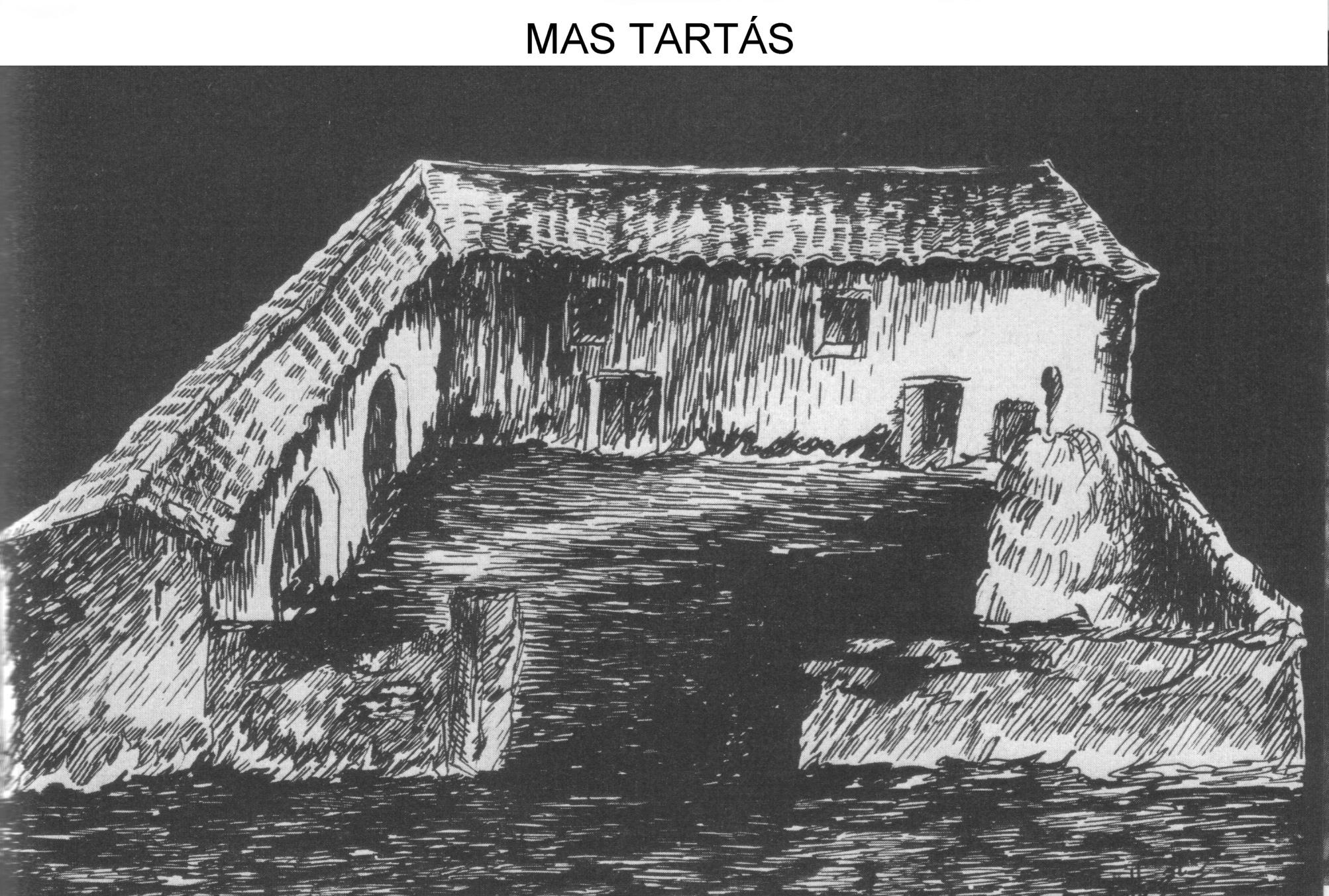 Dibujo del Tartás realizado por el guerrillero Domenec Ibars, de esta base salieron muchos de los libros caminadores.