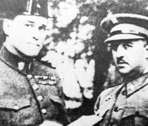 Dos de los grandes represores en asturias junto a Bravo, Lisardo Dovaly Franco.