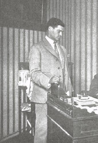 El policía Quintelaen el año 1919.