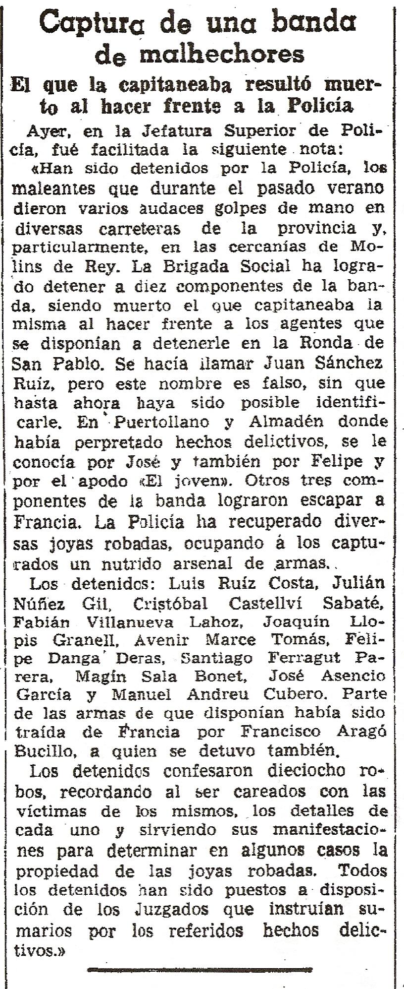 La Vanguardia. 1 de octubre de 1947.