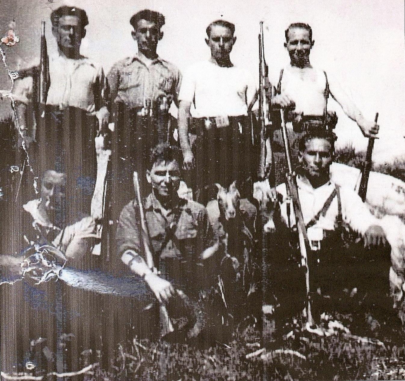 Única foto conocida de la partida del Santeiro, desconociéndose lugar y fecha.