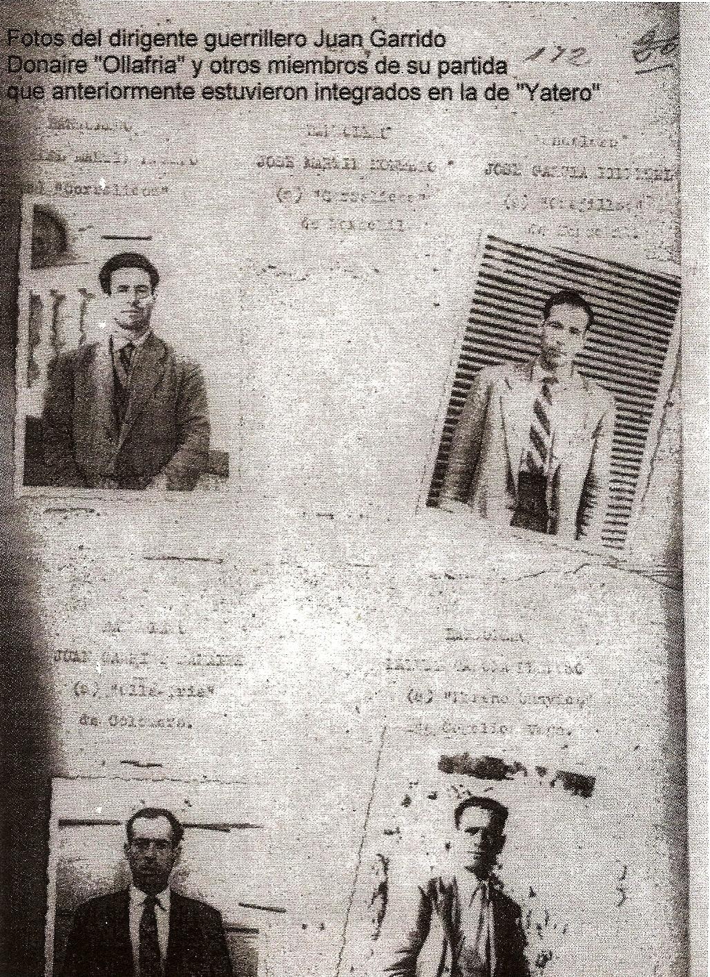 Ficha policial de alguno de los miembros de la partida.