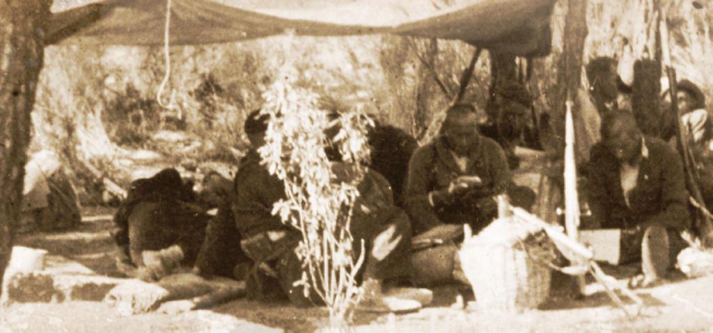Guerrilleros de la agrupación en la Cerollera.