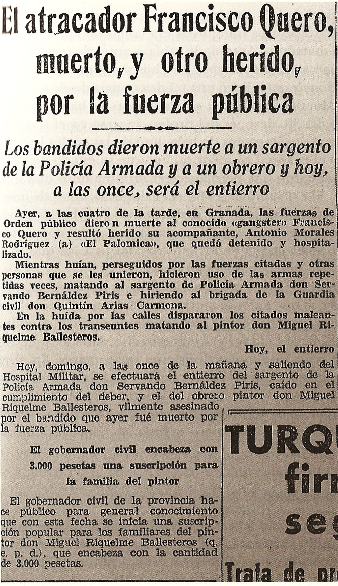Ideal de Granada. Noticia del 31 de marzo de 1946.