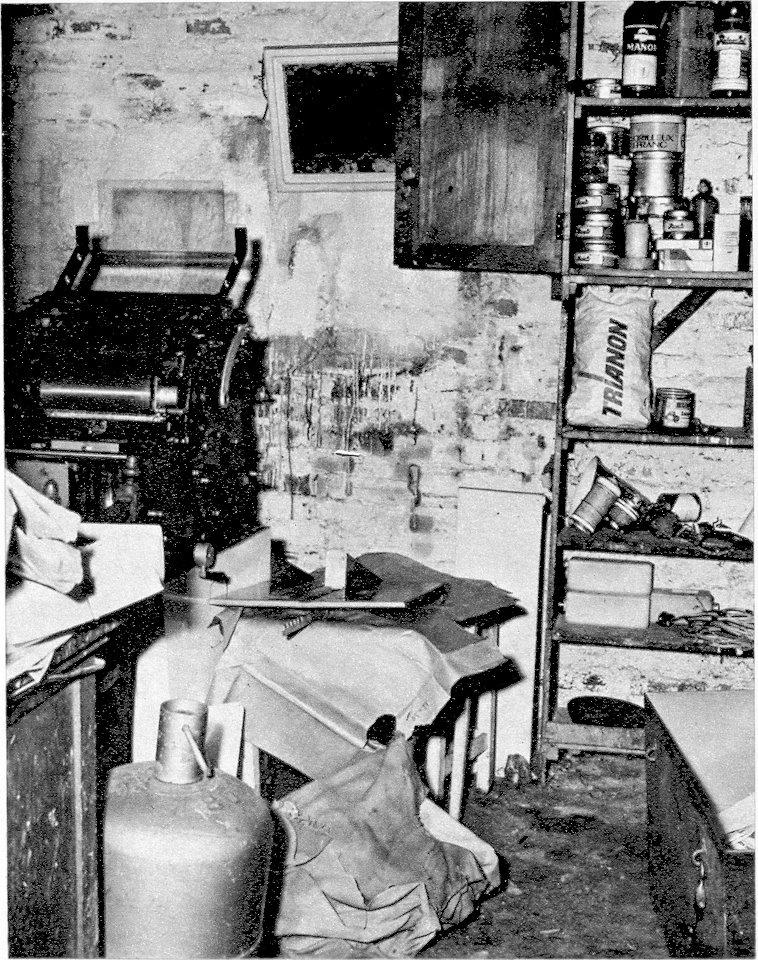 Imprenta de Cerrada asaltada por la gendarmería en mayo del 49..