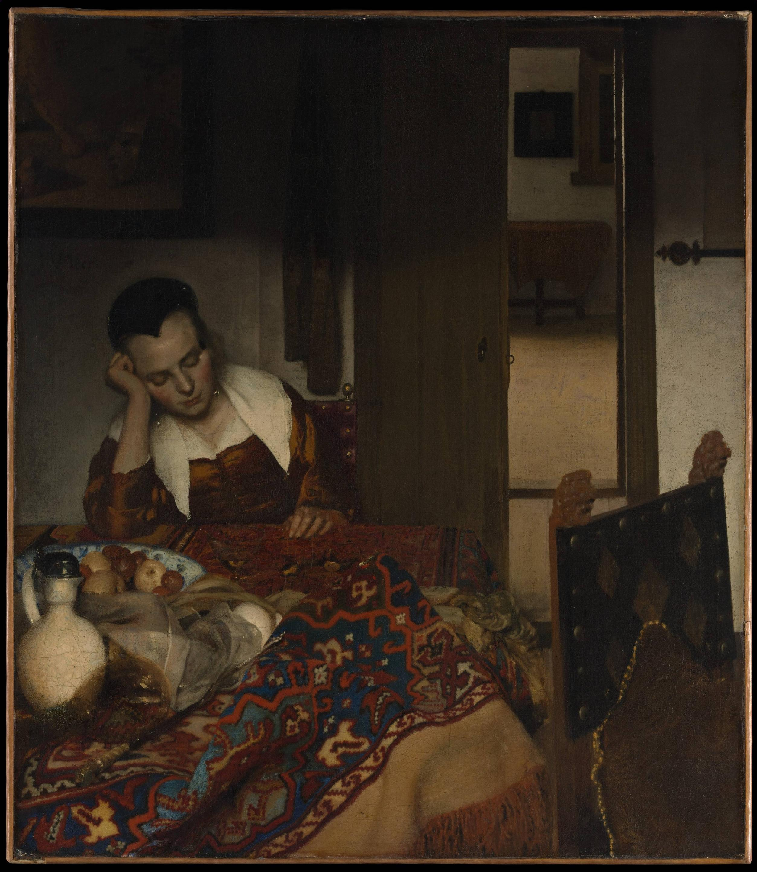 Vermeer, A maid asleep (1656-57)