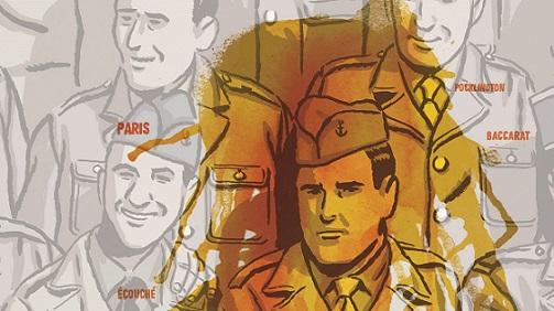 Miguel campos, ilustración de Paco Roca para la portada de los surcos del azar.