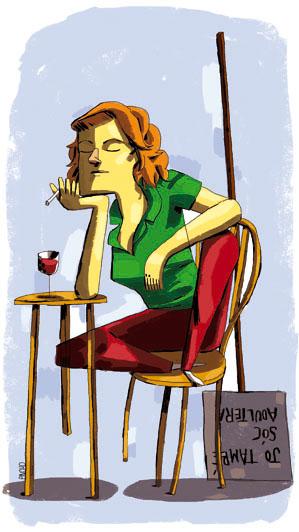 Montserrat Roig. Ilustración de Pincho