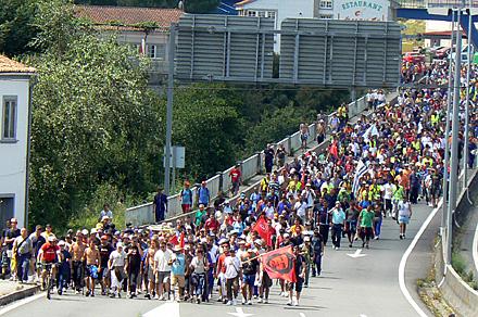 HUELGA DEL METAL. Manifestación del sector del metal en Vigo en julio 2009 / FOTO: Celia García