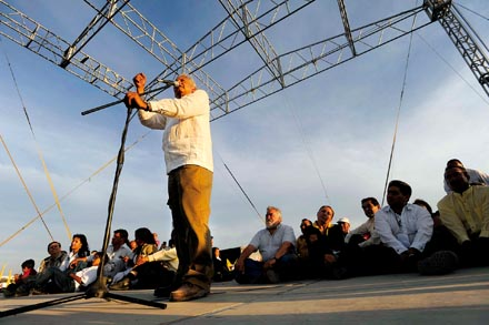 El candidato del PRD denunció el fraude de las elecciones de 2006. Foto: Mario Delgado