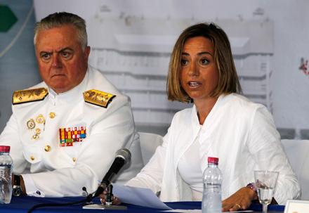 Carme Chacón, ministra de Defensa.