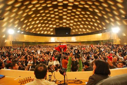 TÚNEZ. Congreso del Frente 14 de enero formado por ocho partidos nacionalistas y de izquierdas. Foto: Farouk Jhinaoui.