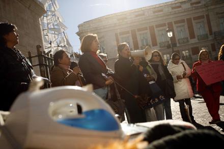 'ÄúREIVINDICACIÓN'Äù. El 23 de noviembre de 2008 las trabajadoras domésticas salieron a la calle a reclamar sus derechos. Edu León