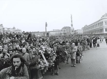 ABOGADOS DE ATOCHA. Asesinados por un comando de ultraderecha a su entierro acudieron más de 100 000 personas. Foto: Archivo del Partido Comunista.