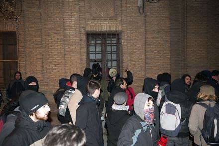 Los okupas entraron el 22 de enero en la antigua cárcel de Torrero. Foto: Primo Romero