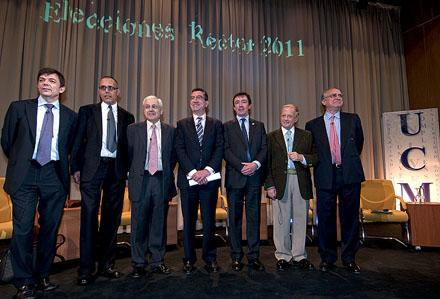MADRID. Candidatos a rector de la UCM. Foto: UCM.