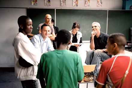 Cantet durante el rodaje de 'La clase'.
