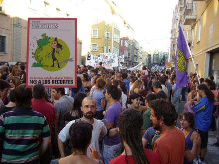 Manifestación contra las reformas en educación en Castilla La Mancha.