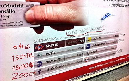 Intervención sobre una campaña publicitaria de Metro de Madrid.