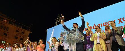Mítin de Syriza en la campaña para las primeras elecciones del 6 de mayo. Foto: Oneiros