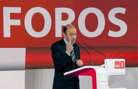 El actual secretario general del PSOE, Alfredo Pérez Rubalcaba, en un congreso del año 2011. Foto: Federación Socialista Asturiana