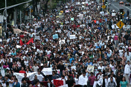 Manifestación de los enojados mexicanos. Foto: Marta Molina.