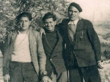 """Francisco, José y Antonio Quero, """"los Quero""""."""
