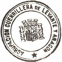Sello de la Agrupación Guerrillera de levante y Aragón.