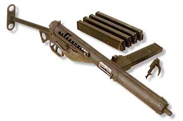 La metralleta Sten MK3, un arma bastante utilizada por los guerrilleros.