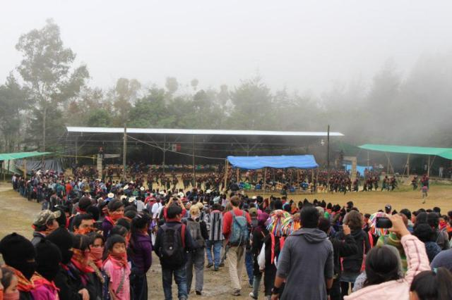 Llegada al 20 aniversario del Congreso Nacional Indígena en el caracol de Oventik (Chiapas). / Radio Zapatista (tomao de Diagonal)