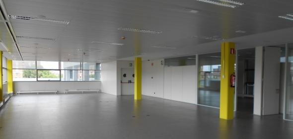 Interior del edificio de la AEAT. CGT.
