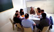 Prisión de Estremera Conversación entre participantes del proyecto con Lola Millás. Foto: Nacho Prieto.