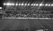 Mosaico en el Nuevo Estadio de Vallecas durante la celebración de un Rayo Vallecano-Betis en marzo de 2011. Ferdy_Vk