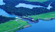 Alrededores del lago Gatún, en Panamá, y el efecto de la deforestación.