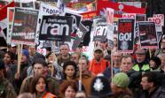 LONDRES, 2010. Protestas contra la guerra de Iraq y la participación de Tony Blair durante la celebración de la comisión Chilcot