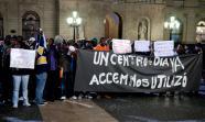 ACCEM. Concentración en Barcelona contra o peche dun centro desta ONG. Foto: Reynaldo Trombetta.