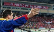 EL TIRÓN DE CHÁVEZ. Mitin celebrado en la ciudad de Barinas el 21 de agosto, bajo el lema de la campaña: 'El Pueblo pa'Äô la Asamblea'Äô. Prensa Presidencial de Venezuela