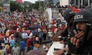 Manifesación en las calles de Honduras. Foto: Sandra Cuffe.